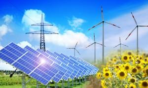 Solaranlage im Freien