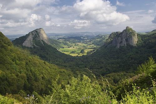 Landschaft in der Auvergne