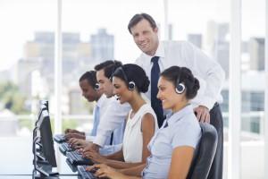 Callcenter und Manager
